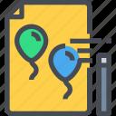 balloon, document, edit, fantasy, file, magic, wand icon