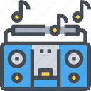 boombox, cassette player, music, party, song, sound icon