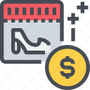 buy, calendar, event, money, payment, shopping, ticket icon