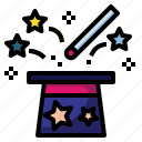 magic, hat, trick, magician, entertainment, wizard