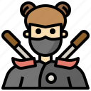 competition, cultures, jobs, killer, professions, sports, warrior icon
