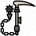 blade, knifes, miscellaneous, ninja, sickle, weapon, weapons icon