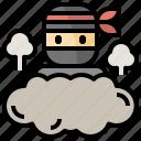 avatar, bomb, invisible, japan, killer, ninja, smoke icon