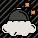 bomb, miscellaneous, ninja, smoke, weapon icon