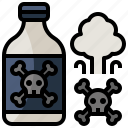 container, danger, miscellaneous, poison, risk, skull, toxic icon