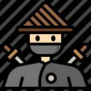 avatar, ninja, people, profile, social, user icon