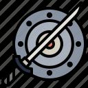 assasin, katana, killer, ninja, objetive, sword, target icon