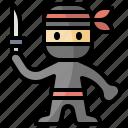 assasin, japan, japanese, man, ninja, spy, user icon