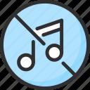 loud, music, no, noise, sound, wave icon