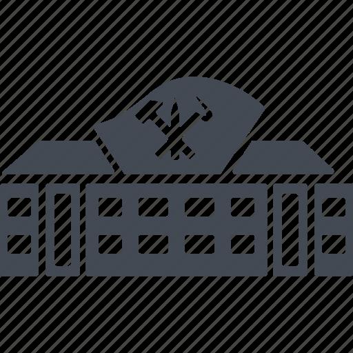 building, construction, house, north korea icon