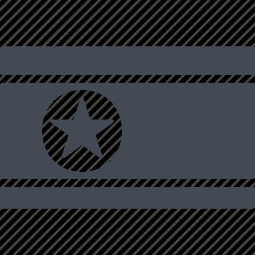 country flag, distinctive sign, korea flag, north korea icon
