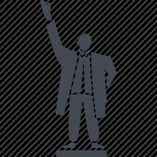 human, monument, north korea, pedestal icon