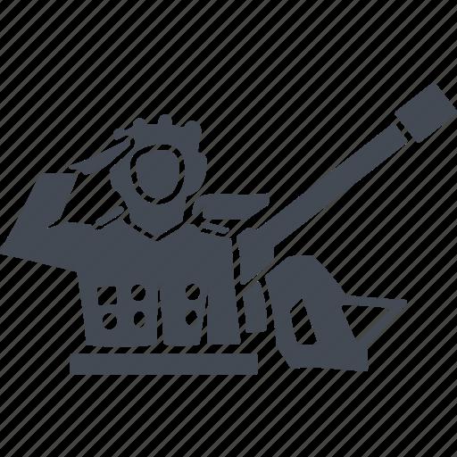 military, north korea, tank, tankman icon