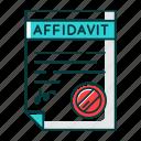affidavit, apostille, declaration, document, legalization, notarized, statement