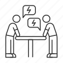 discussion, argument, dialogue, opposition, negotiation, conflict, dispute
