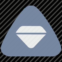diamond, jewelry, notice, warning icon
