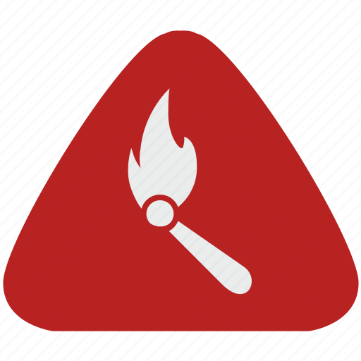 fire, fireplace, notice, warning icon