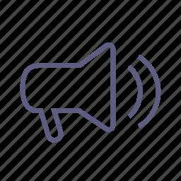 alarm, announcement, megaphone, notice, notification, speaker, volume icon