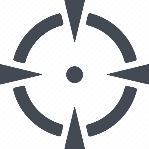 aim, arrow, nuclear weapon, target icon