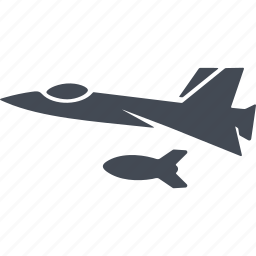 aircraft, bomber, nuclear weapon, war plane icon