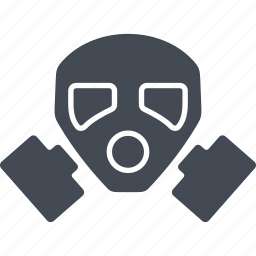 mask, nuclear weapon, protection, remedy icon