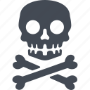 bones, life threatening, nuclear weapon, skull icon