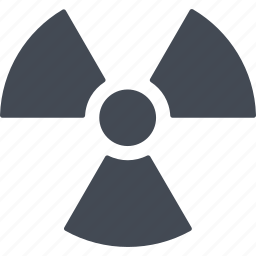 danger, nuclear weapon, peril, sign icon