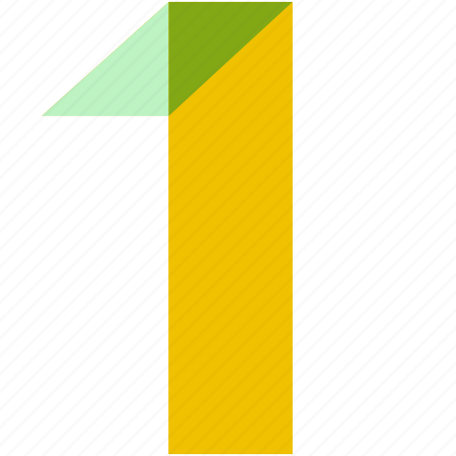 abstract, color, figure, number, numbers, numeral, one icon
