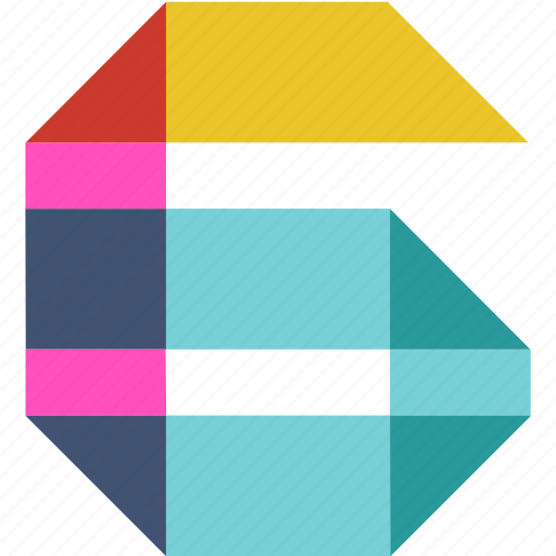 abstract, color, figure, number, numbers, numeral, six icon