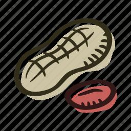 food, healthy, nut, peanut, protein, snack icon