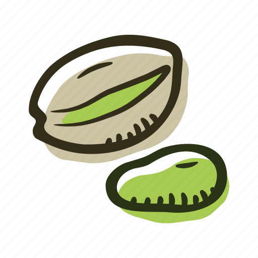 food, healthy, nut, pistachio, protein, snack icon