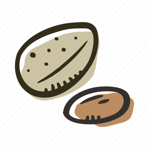 almond, food, healthy, nut, protein, snack icon