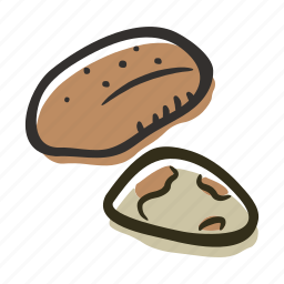 brazil nut, food, healthy, nut, protein, snack icon
