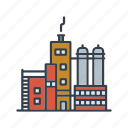 building, factory, industrial, industry, manufacturing, production icon
