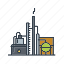 energy, fossil fuel, industrial, industry, oil, petrol, refinery icon