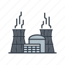 electricity, energy, industry, nuclear power plant, power generation icon