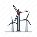 electricity, energy, environment, power generation, renewable, sustainable, wind turbine icon