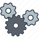 cogs, gears, industrial, industry, machine, technology, transmission icon