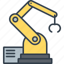 automation, factory, industrial, industry, machine, robot, technology icon