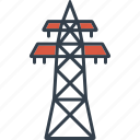 electricity, industrial, industry, power line, pylon, technology icon
