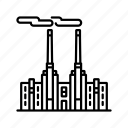 coal, energy, fossil fuel, industry, pollution, power generation, power plant icon