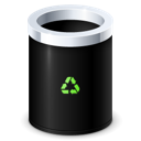 empty, garbage, recycle bin icon