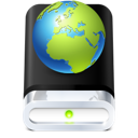 drive, globe, web icon