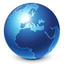 blue, browser, earth, global, globe, international, internet, planet, skull, world icon