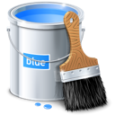 blue, bucket, color, design, paint