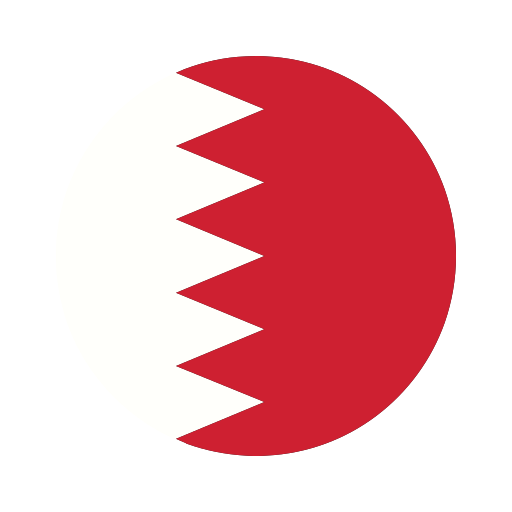 asia, bahrain, circle, country, flag, nation, national icon