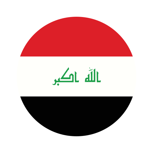 asia, circle, country, flag, iraq, nation, national icon