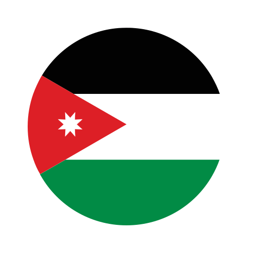 asia, circle, country, flag, jordan, nation, national icon