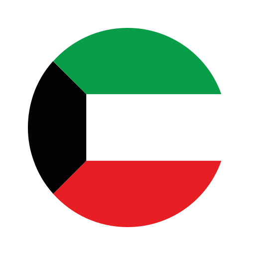 asia, circle, country, flag, kuwait, nation, national icon