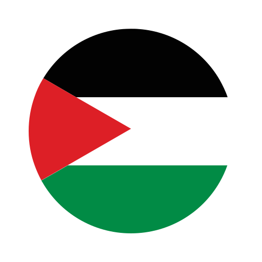 asia, circle, country, flag, nation, national, palestine icon
